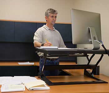 Use a standing desk