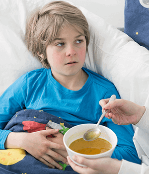 Chicken broth soothes the sick