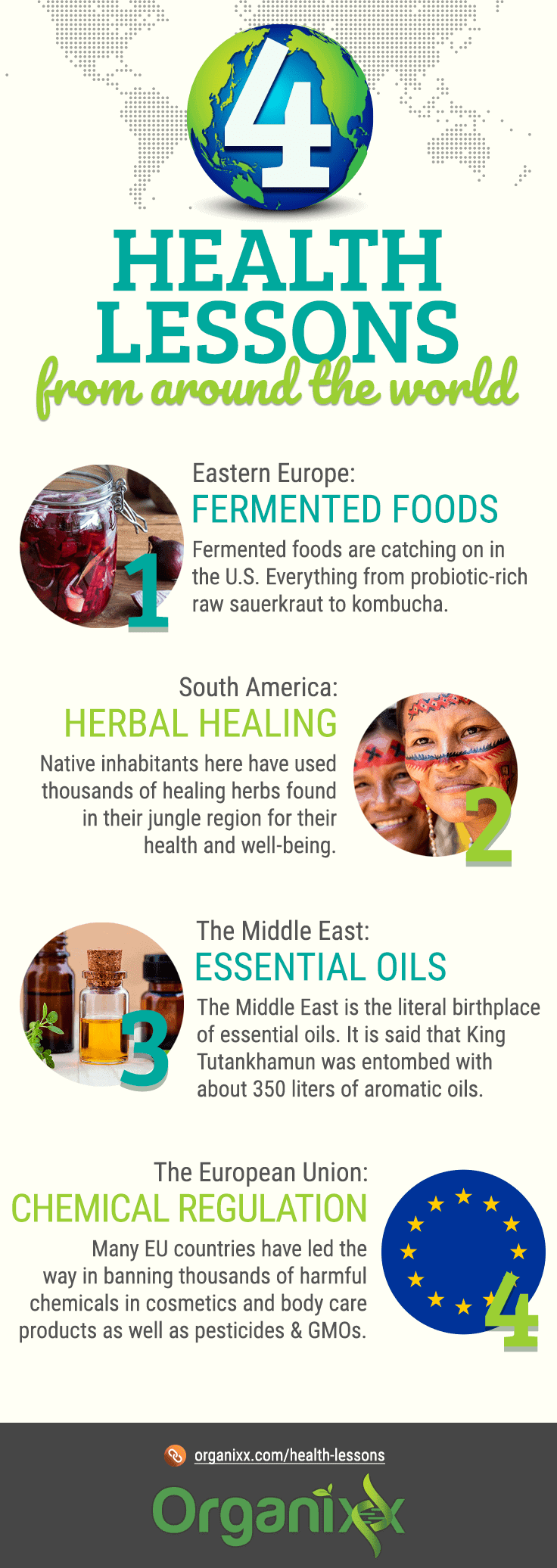 4 World Health Lessons Infographic