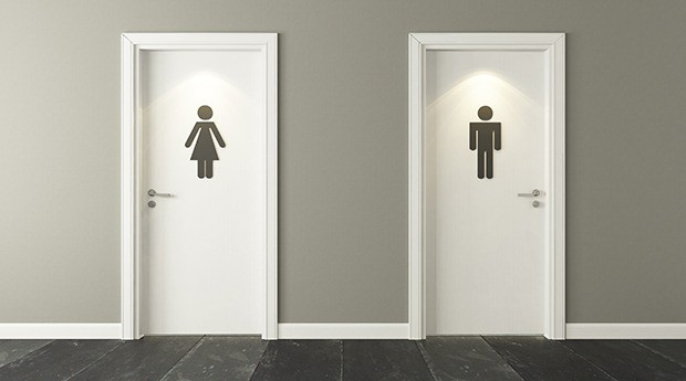 Men and Women Bathroom Doors