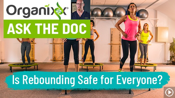 "Is Rebounding Safe for Everyone? ""Ask the Doc"" with Dr. Nuzum ""Ask the Doc"" (People jumping on trampolines.)"