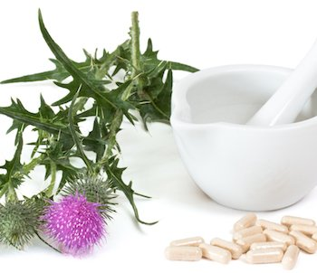 Capsules of milk thistle