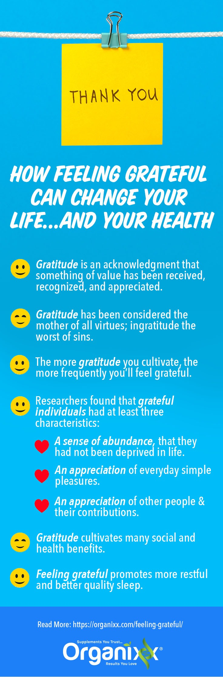 feeling grateful infographic