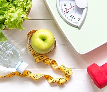 scale and apple for obesity