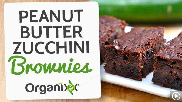 Peanut Butter Zucchini Brownies