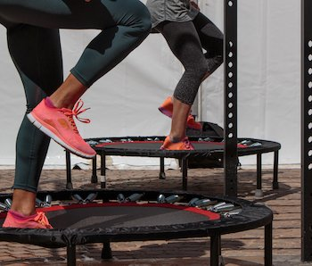 Rebounder Trampoline Workout Class