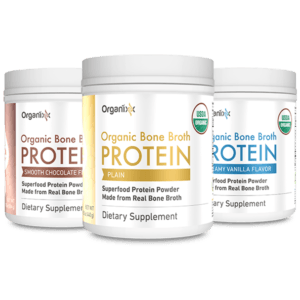 Organixx organic Bone Broth Protein canisters