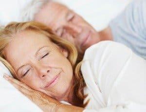 couple having good night's sleep