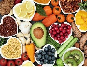 assortment of healthy foods