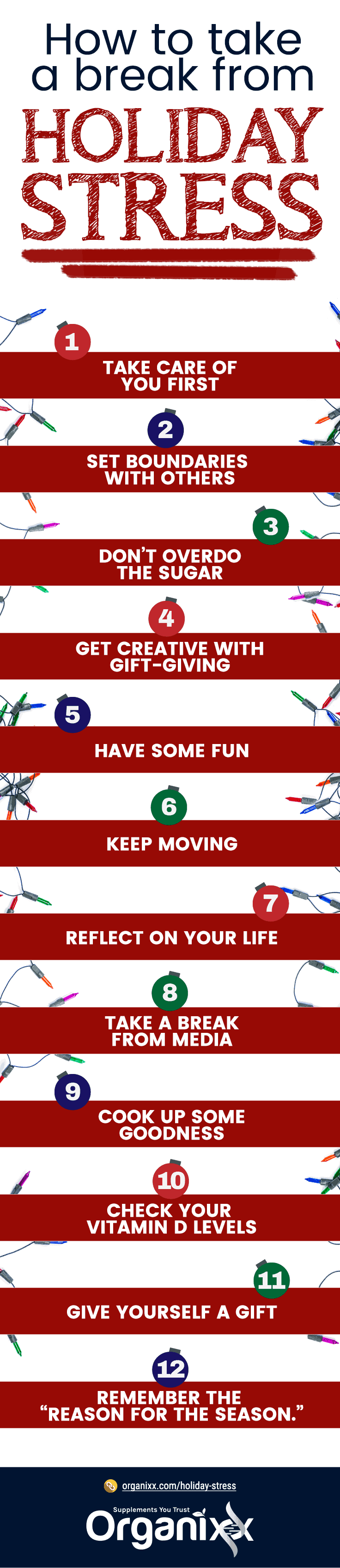 Holiday Stress Infographic