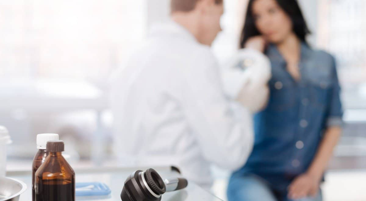 Woman Sees Doctor About iodine benefits