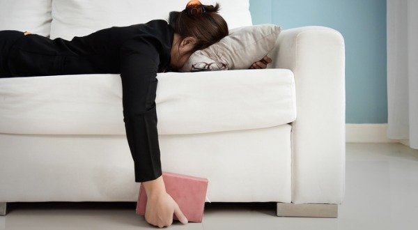 Woman Lacking Nutrients Passes Out on Couch