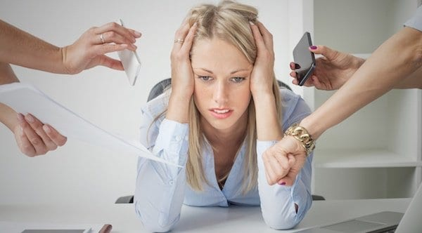 Women Deals with Stresses from Work